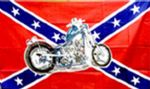 REBEL MOTORCYCLE (CONFEDERATE) - 5 X 3 FLAG